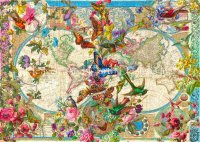 Birds Butterflies and Blooms World Map