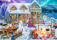 Supersized Family Winter Cabin Max Color Material Pack