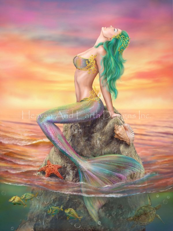 Mermaid At Sunset Max Colors - Click Image to Close