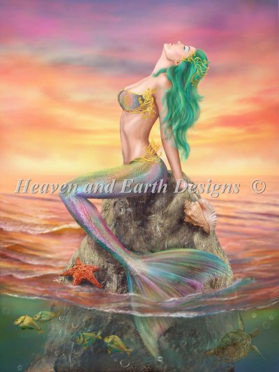 Mermaid At Sunset Color Expansion NO Background