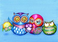 A Crazy Wonderful Owl Family Max Color
