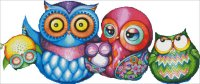 A Crazy Wonderful Owl Family NO Background