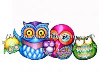 Crazy Wonderful Owl Family NO Background Material Pack