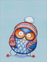 Winter Hat Owl