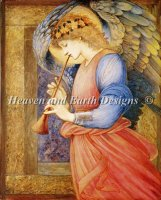 An Angel Playing A Flageolet Material Pack