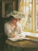 Lady Reading By Window