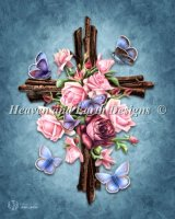 Butterfly Rose Cross Material Pack