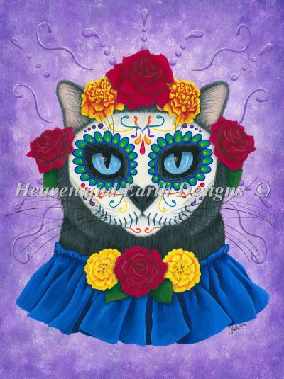 Day Of The Dead Cat Gal Material Pack