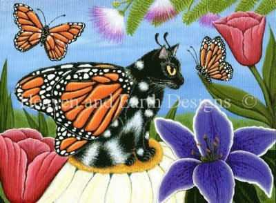 Monarch Butterfly Fairy Cat Material Pack