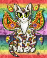 Rainbow Paisley Fairy Cat