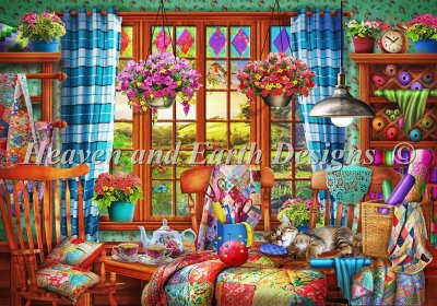 Patchwork Quilt Room Material Pack