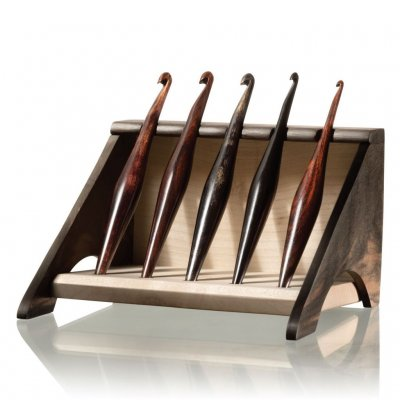 Crochet Hook Stand Maple and Ebony