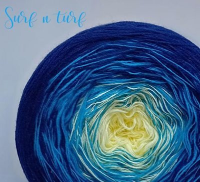 4 ply Handmade Yarn - Sport Weight - Surf and Turf