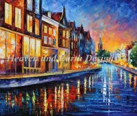 Diamond Painting Canvas - Mini Amsterdam Sunday Night