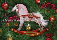 Diamond Painting Canvas - Mini Christmas Rocking Horse