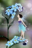 Diamond Painting Canvas - Mini Forget Me Not