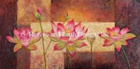 Diamond Painting Canvas - Mini Lotus Flowers