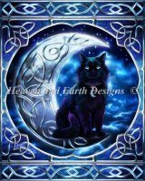 Diamond Painting Canvas - Mini Midnight Moon Celtic Black Cat