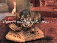 Diamond Painting Canvas - Mini the Book of Dog Talk
