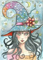 Diamond Painting Canvas - QS Bubble Hat Witch