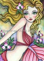 Diamond Painting Canvas - QS Orchid Mermaid