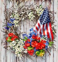 Patriotic Wreath NO BK MC Material Pack