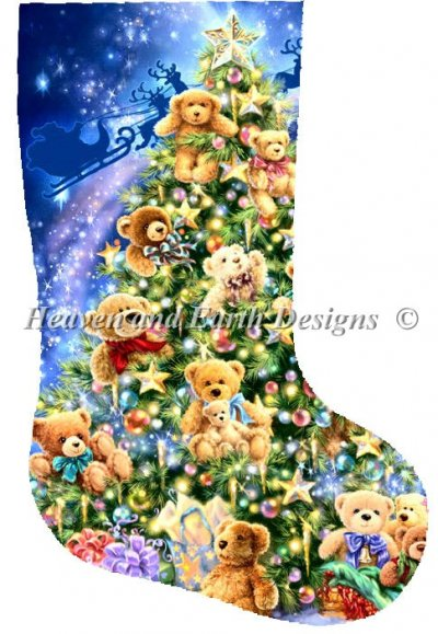 Stocking Teddy Bear Tree