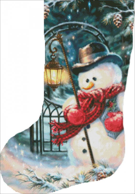 Stocking The Enchanted Christmas Snowman Material Pack - Click Image to Close