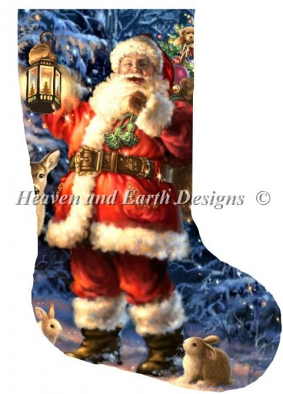 Stocking Woodland Santa
