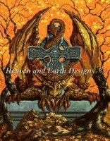 Celtic Autumn Cross Dragon