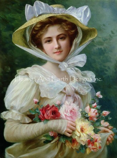 Elegant Lady With A Bouquet