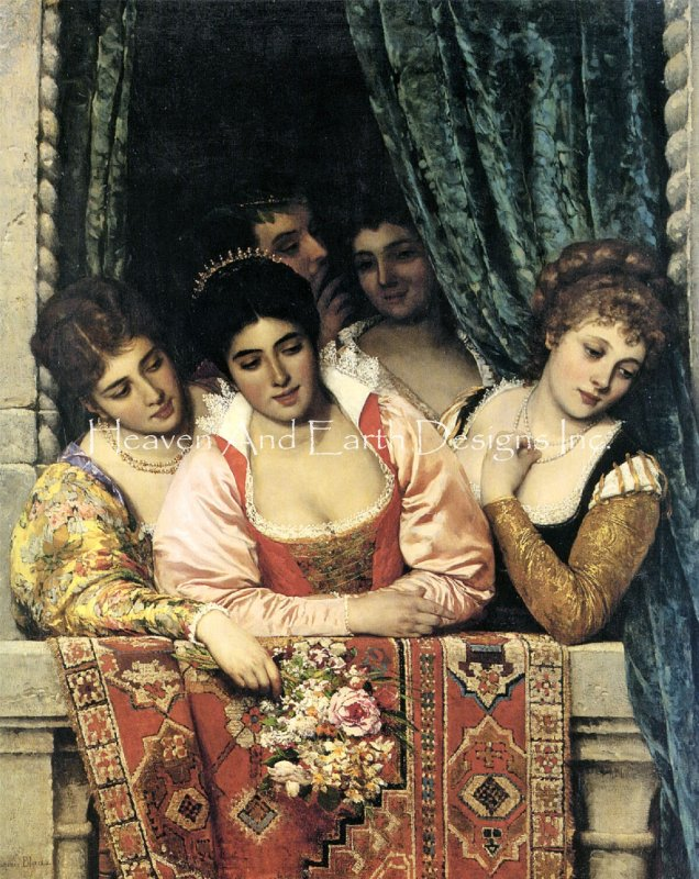 Ladies On A Balcony - Click Image to Close