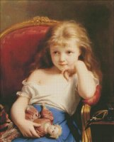 Young Girl Holding A Doll
