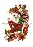 Autumn Fairy With Robin