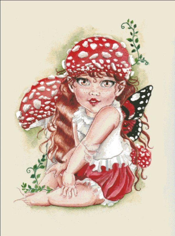 Baby Toadstool Fairy - Click Image to Close