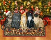 Limited Edition Artist of the Month - Holiday Cats Material Pack