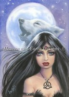 Celtic Wolf Witch