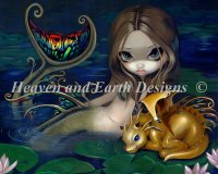 Mermaid With A Golden Dragon Max Color