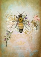Honey Bee Portrait Material Pack