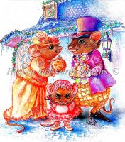 Cratchit Christmas Mouse Material Pack