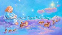 Girl And Animals In Clouds Material Pack