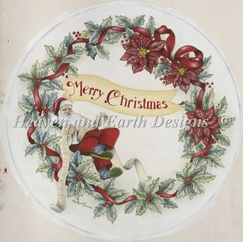Merry Christmas Wreath - Click Image to Close