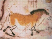 QS Horse - Ancient Stone Wall Painting