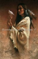 Native Girl With Dove