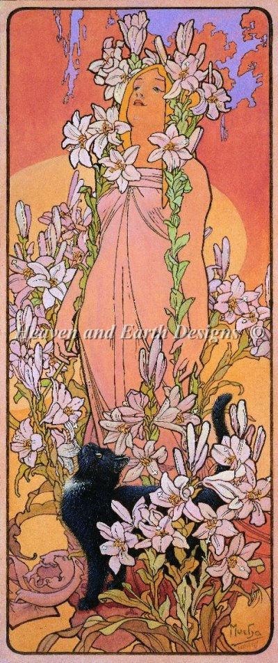 Gabrielle and the Mucha Lily Maiden