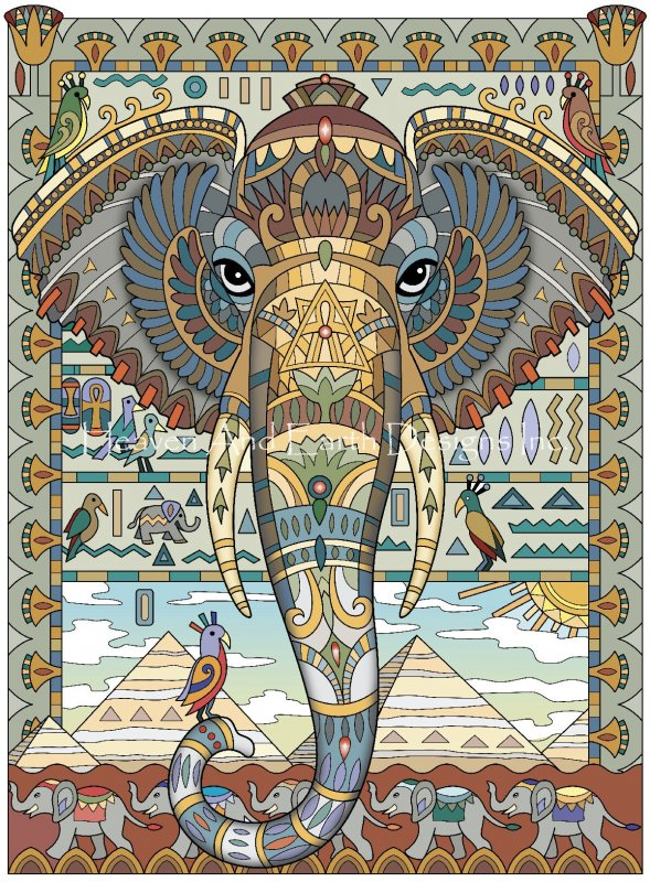 Egyptian Elephant - Click Image to Close