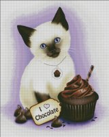 Chocolate Cupcake Kitten