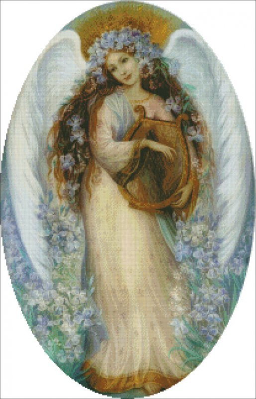 Mini Angel With Iris - Click Image to Close