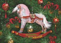Mini Christmas Rocking Horse