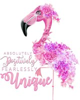 Mini Fearlessly Unique Flamingo